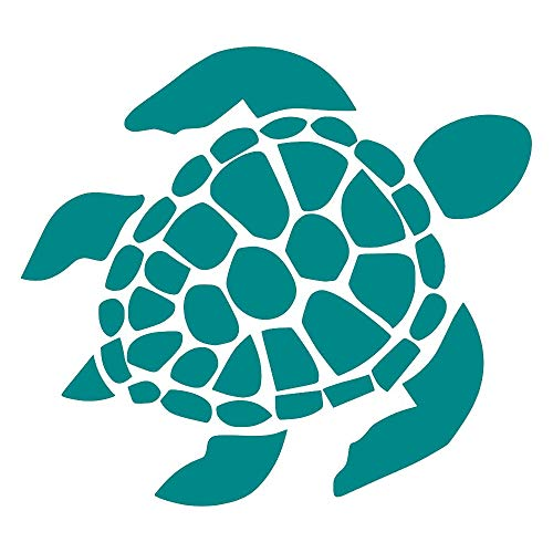 Sea Turtle [Pick Any Color] Vinyl Transfer Sticker Decal for Laptop/Car/Truck/Window/Bumper (2in x 1.8in (4-Pack of Minis), Turquoise)