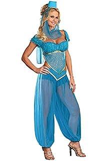 Arabian princess belly dancer costume amazon toys games belly dancer genie princess jasmine aladdin arabian nights fancy dress costume women 8 solutioingenieria Gallery