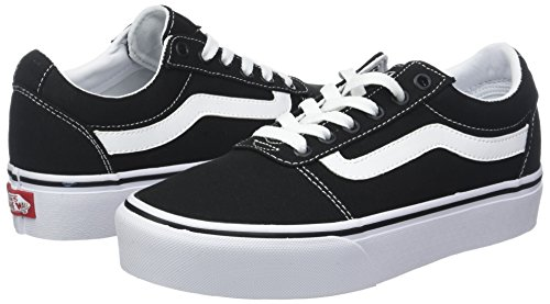 f2b7252be0d563 Amazon.com | Vans Women's Ward Platform Canvas Low-Top Sneakers | Fashion  Sneakers