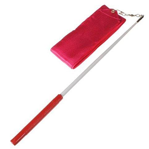 KinGHonor Homeking 4M Gym Dance Ribbon Streamer Baton Twirling Rod Rhythmic Art Gymnastic Hot Pink