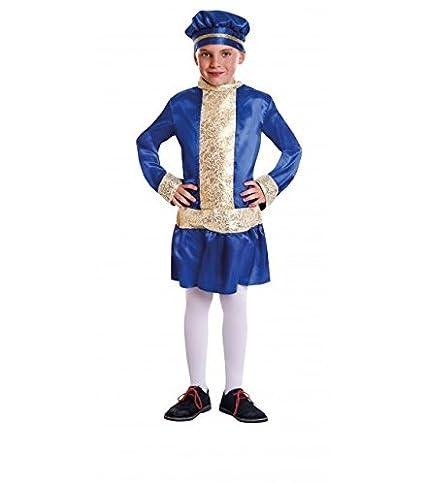 Disfraz de Paje Gorro Azul infantil S-(5/6A)