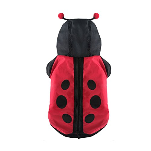 Costume Sled Dog (CLOVER Autumn Winter Ladybug Ladybird Windbreaker Wind coat Role Play Suit Fancy Dog Cat Puppy Costume -)