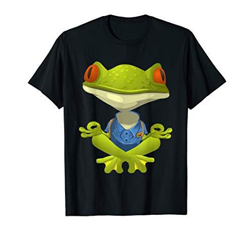 Funny Frog Yoga T-Shirt Yogi Namaste Om Meditation Tee