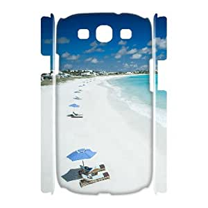TOSOUL Island Beach Customized Hard 3D Case For Samsung Galaxy S3 I9300