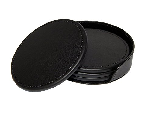 Leather 4 Coaster Set - 7
