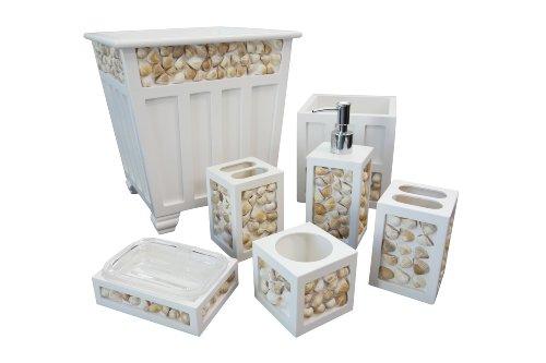 Screen Gems SGT41 6-Piece Seashell Bath Ensemble (Seashell Bath Accessories)