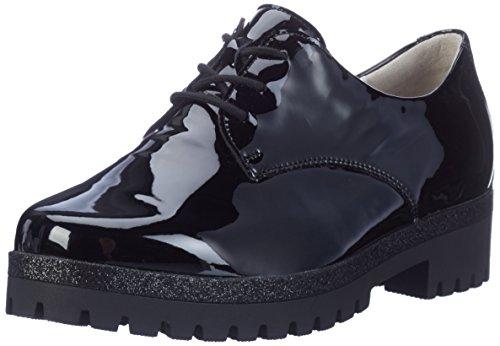 Waldläufer Hanako, Zapatos de Cordones Derby para Mujer Schwarz (Softlack Schwarz)