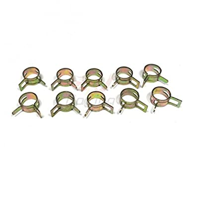 "10 PCS 5mm 3/16"" Spring Band Type Action Fuel / Silicone Vacuum Hose Pipe Clamp Low Pressure Air Clip Clamp"