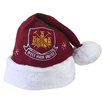 0a6652f0b1f West Ham United FC Football Xmas Christmas Santa Hat  Amazon.co.uk ...