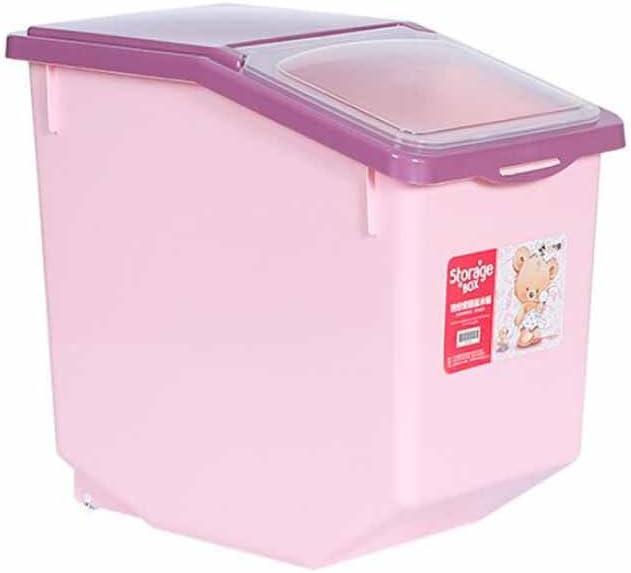 JUMP - Caja de Almacenamiento para arroz de plástico Sellado con Cilindro Antihumedad para Grano de arroz, Caja de arroz, Rosa, Medium: Amazon.es: Hogar