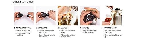 uKeg 64 Pressurized Growler for Craft Beer - Copper by GrowlerWerks (Image #6)'
