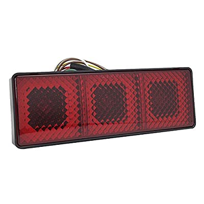 Bully CR-007XL Universal Extra Large Tow Hitch Cover/Receiver Trailer Plug in Black with LED Brake Light with No Manufacturer Logo or Emblem - Car, SUV and Truck Accessories: Automotive