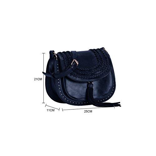 Bolsos Mujer Avashion Azul Marino De Bolso d4wtqw6