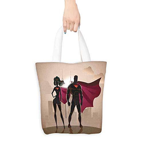Superhero Merchandise Bags Super Woman and Man Heroes
