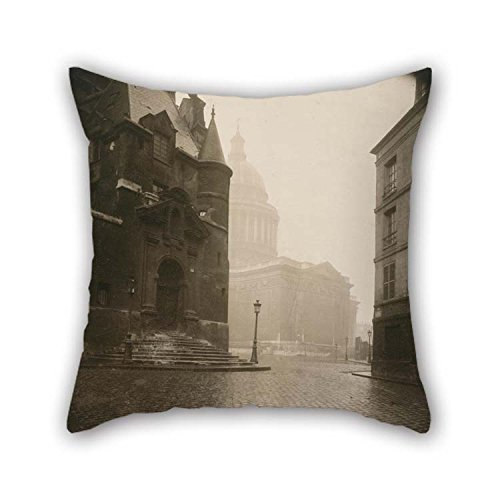 beeyoo Oil Painting Eug??ne Atget - Rue De La Montagne STE. Genevieve Throw Cushion Covers 16 X 16 inches / 40 by 40 cm for Couch Shop Valentine Birthday Dining (Genevieve Duvet Cover)