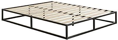 Zinus Modern Studio 6 Inch Platforma Low Profile Bed Frame / Mattress Foundation / Boxspring Optional / Wood slat support, Twin