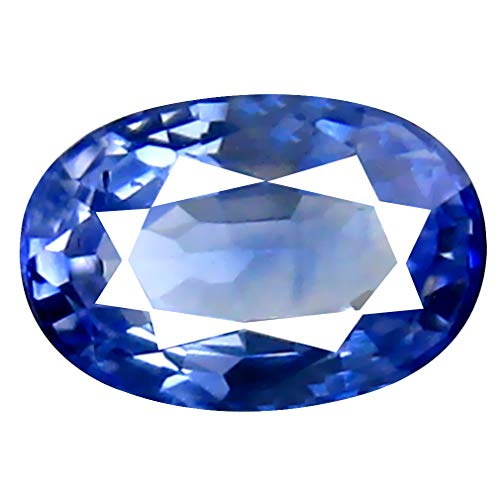 0.72 ct Oval Cut (6 x 4 mm) September Month Birthstone Mined from Ceylon Blue Sapphire Genuine Loose Gemstone ()