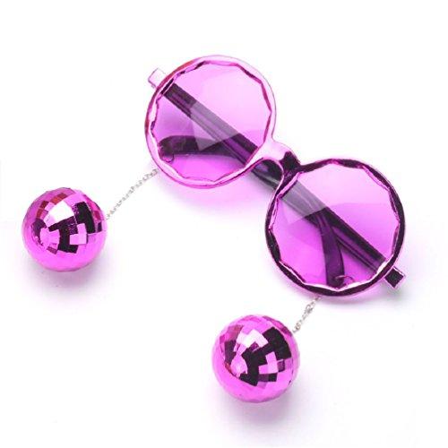Shiny Hanging Disco Ball Glasses Creative Sunglasses Birthday Party Supplies -