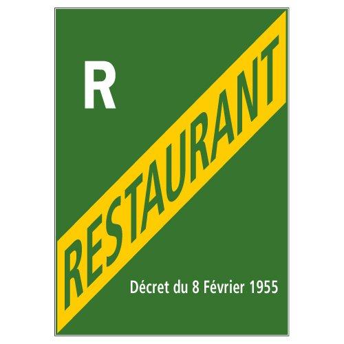 Licence Restaurant - Adhé sif Autocollant Sticker - Dimensions 150 x 210 mm - Film de protection UV et anti graffiti Signalétique.biz France