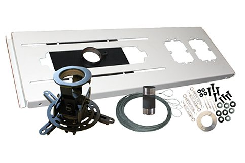 Mustang MV-FCPA-KIT Universal Projector Ceiling Mount Kit (White) 13