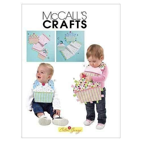 MCCALLS M6368 BABY BIRTHDAY BIBS, BURP CLOTH & TOY (BOY & GIRL) ~ SEWING PATTERN