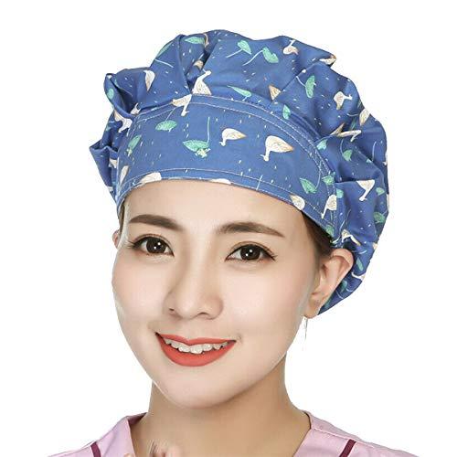 Unisex Adjustable Scrub Cap Sweatband Bouffant Hat Women Men Cute Pattern Personal Care