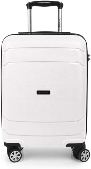 Gabol - Shibuya | Maleta de Cabina Rigida de 37 x 55 x 20 cm con Capacidad para 34 L de Color Blanco