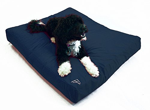 Best Waterproof DIY Replacement Dog Bed Cover; Washable Hypoallergenic Made in USA (Navy Blue, Medium/Large; 36 x 30 x 4)