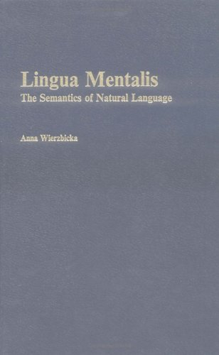 Lingua Mentalis: The Semantics of Natural Language by Brill Academic Pub