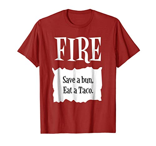 FIRE - Hot Packet Halloween Taco Costume T-Shirt ()