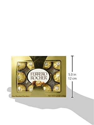 Ferrero Rocher Fine Hazelnut Chocolates 12 PC Net Wt 5.3OZ by Ferrero Products Inc