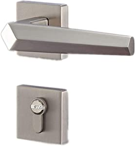 Zinc Alloy Door Locks, Bedroom Door Handle Lock Cylinder, Security Silent Door Lock, Home Hardware