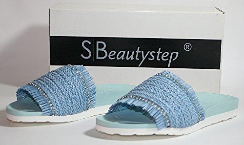 Mules dynamic24 pour pour Bleu Femme Mules dynamic24 Femme Femme dynamic24 Bleu Mules pour vttEfw8q