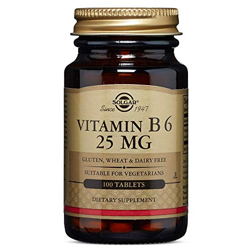 Solgar - Vitamin B6, 25 mg, 100 Tablets