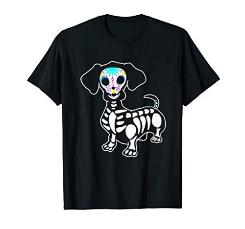 Dachshund Halloween Shirt (Dachshund Skeleton Pumpkin Happy Halloween)