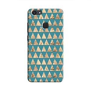Cover It Up - Brown Blue Triangle Tile V7 Plus Hard Case