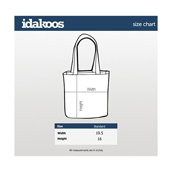 "Idakoos The dogfather Collie Rough Canvas Tote Bag 10.5"" x 16"" x 4"" 2"