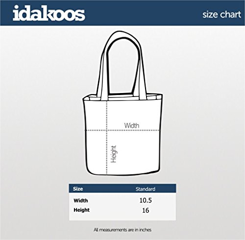 Idakoos Tote Ambient Music speak Dark Bag I only Canvas OqfOr