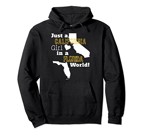 Unisex Just A California Girl In A Florida World Hoodie Sweatshirt Large - In Florida Mall Shops