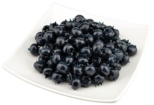 (JEDFORE Fake Fruit Blueberries Simulation Artificial Lifelike Blueberry for Home Kitchen Party Wedding Decoration Photography 50 Pcs)