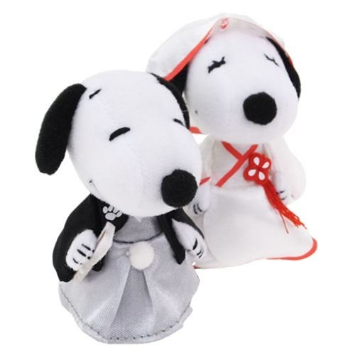 Snoopy and Belle [ mascot ] Wedding mini mascot / NEW peanut [ Japanese ] Yoshitoku