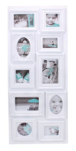 - Kiera Grace Sophia 10 Opening Collage Frame, 13-Inch by 31-Inch, White