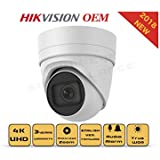 4K PoE Security IP Camera - Compatible as Hikvision DS-2CD2H85FWD-I UltraHD 8MP Vari-Focal EXIR Turret Onvif Weatherproof 2.8-12mm Motorized Lens Best Home Business Security 3 Year Warranty