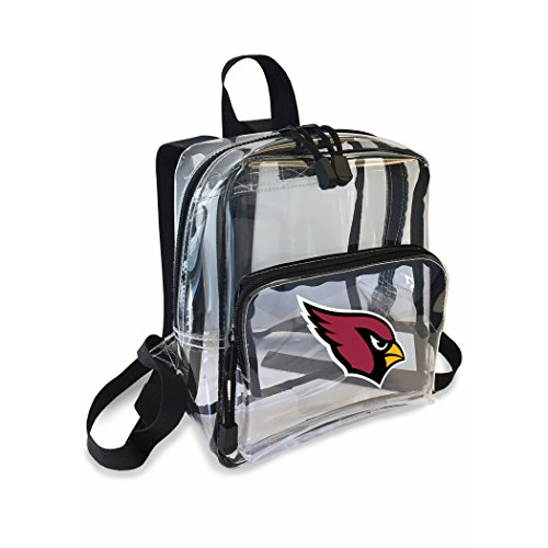 The Northwest Company Officially Licensed NFL Arizona Cardinals Unisex X-Ray Mini Stadium Friendly Transparent Backpack, Red
