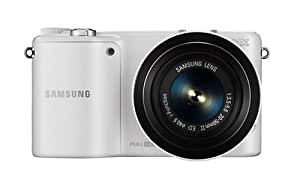 "Samsung NX 2000 - Cámara compacta de 21.6 Mp (pantalla de 3.7"", estabilizador), blanco [importado]"