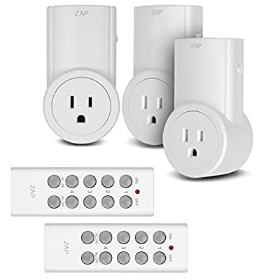 Etekcity Wireless Remote Control Electrical Outlet Switch for Household Appliances, White (Learning Code, 3Rx-2Tx) from Etekcity