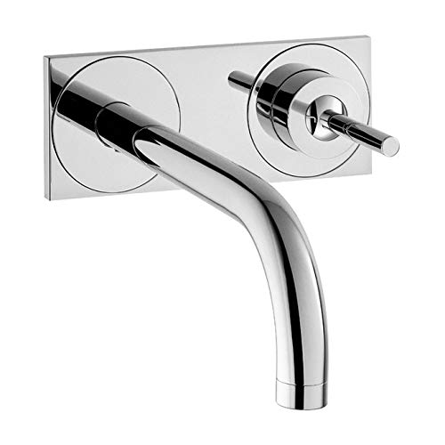AXOR Uno Wall-Mounted Single-Handle Faucet Trim with Base Plate, 1.2 GPM (Handshower Handle Plate)
