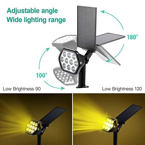Luci solari da esterno, Ranipobo 10 faretti a LED Lampade da parete ad energia solare Illuminazione di sicurezza regolabile senza fili 2 in 1 Illuminazione di illuminazione per cortile giardino