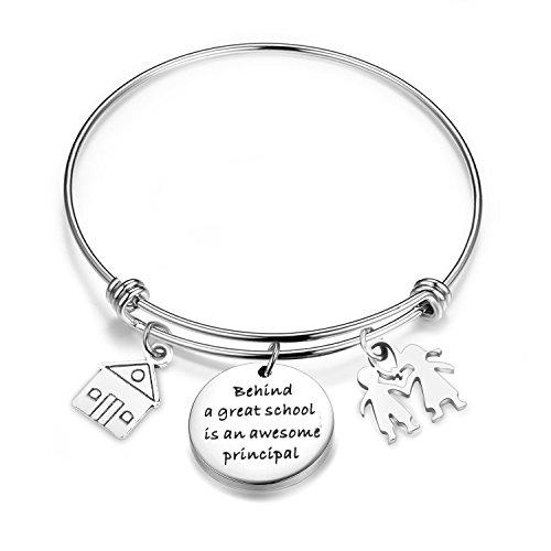 ENSIANTH Principal Gift School Principal Bracelet Assistant Principal Jewelry Retirement Gift for Principal Teacher (Principal Bracelet)