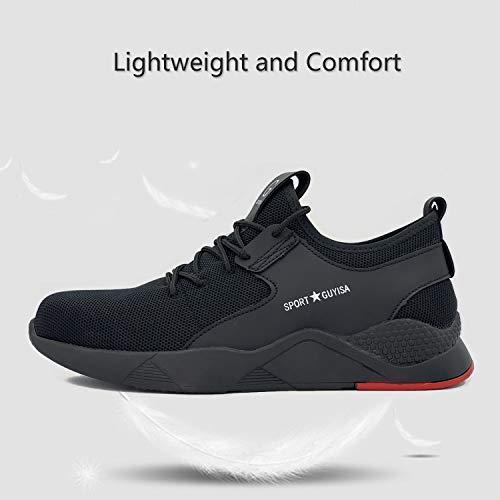 9af3a6cdd2d97 UPSTONE Work Shoes Mens, Mesh Breathable Lightweight Comfortable Steel Toe  Safety Industrial Construction Slip Resistant Shoes, C9117 Black 47